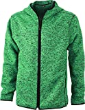 James & Nicholson Strick-Fleecejacke, green-melange/black