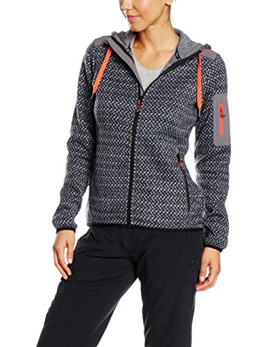 CMP Damen Fleece Jacke, Graffite/Nero, 40 -