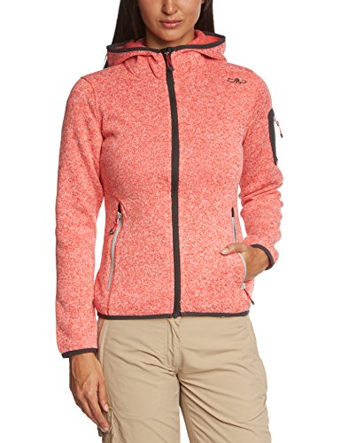 CMP Damen Fleecejacke, campari/bianco, 46, 3H19826 -
