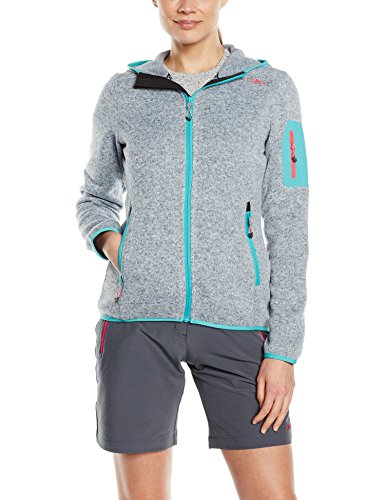 CMP Damen Fleecejacke, Grey/Ice, D38, 3H19826 -