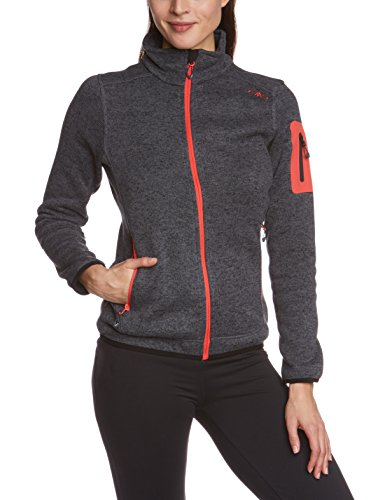 CMP Damen Fleecejacke, grey/nero, 44, 3H14746 -