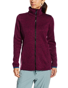 CMP Damen Jacke Fleece, LAMPONE-NERO, 46 EU -