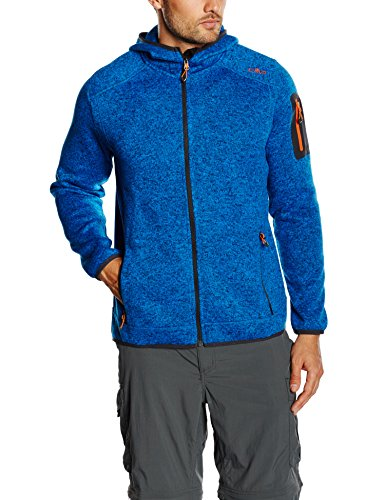 CMP Herren Jacke Fleece, China Blue-Antracite, 56, 3H60847N -