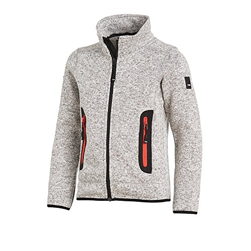 FHB Mats Strick-Fleece-Jacke grau - 1