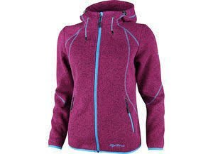 High Colorado Damen Strickfleecejacke grau melange - 1