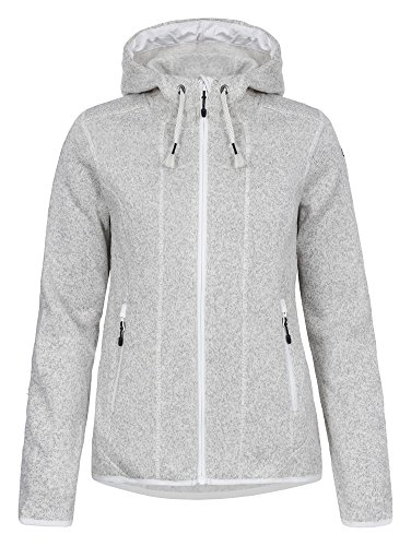ICEPEAK Damen Strickfleece Jacke Kacia, Light Grey - 1