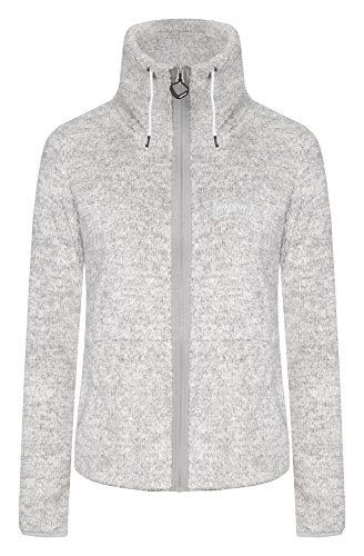 ICEPEAK Damen Strickfleecejacke Karmen, Light Grey - 1