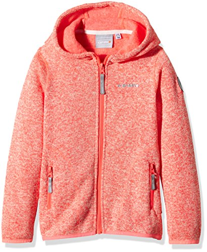 ICEPEAK Kinder Fleece Siiri JR, Blood Orange, 128, 551824872I -