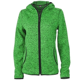 James & Nicholson - Sportliche Strick-Fleecejacke / green-melange/black, L -