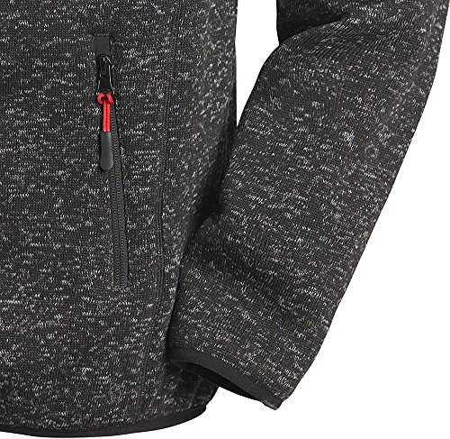 Stubai Strick-Fleecejacke, Strickjacke mit Fleece Innenseite, in Anthrazit für Herren bis 3XL -