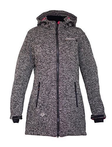 Deproc Active Damen Strickfleece Mantel Elkford Longjacket Lady, anthracite, 48, 54347-080 -