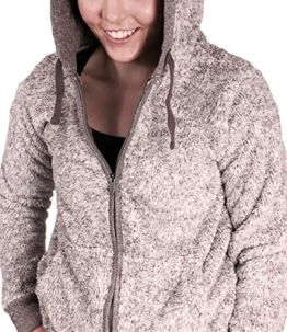 Eight2Nine Damen Fleecejacke im Teddyfleece Style mit Kapuze und Zipper by SBL lightpurple, S -