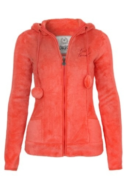 Sublevel Damen Teddy Fleece Jackemit Bommel Kapuze, Öhrchen 86d0869a45
