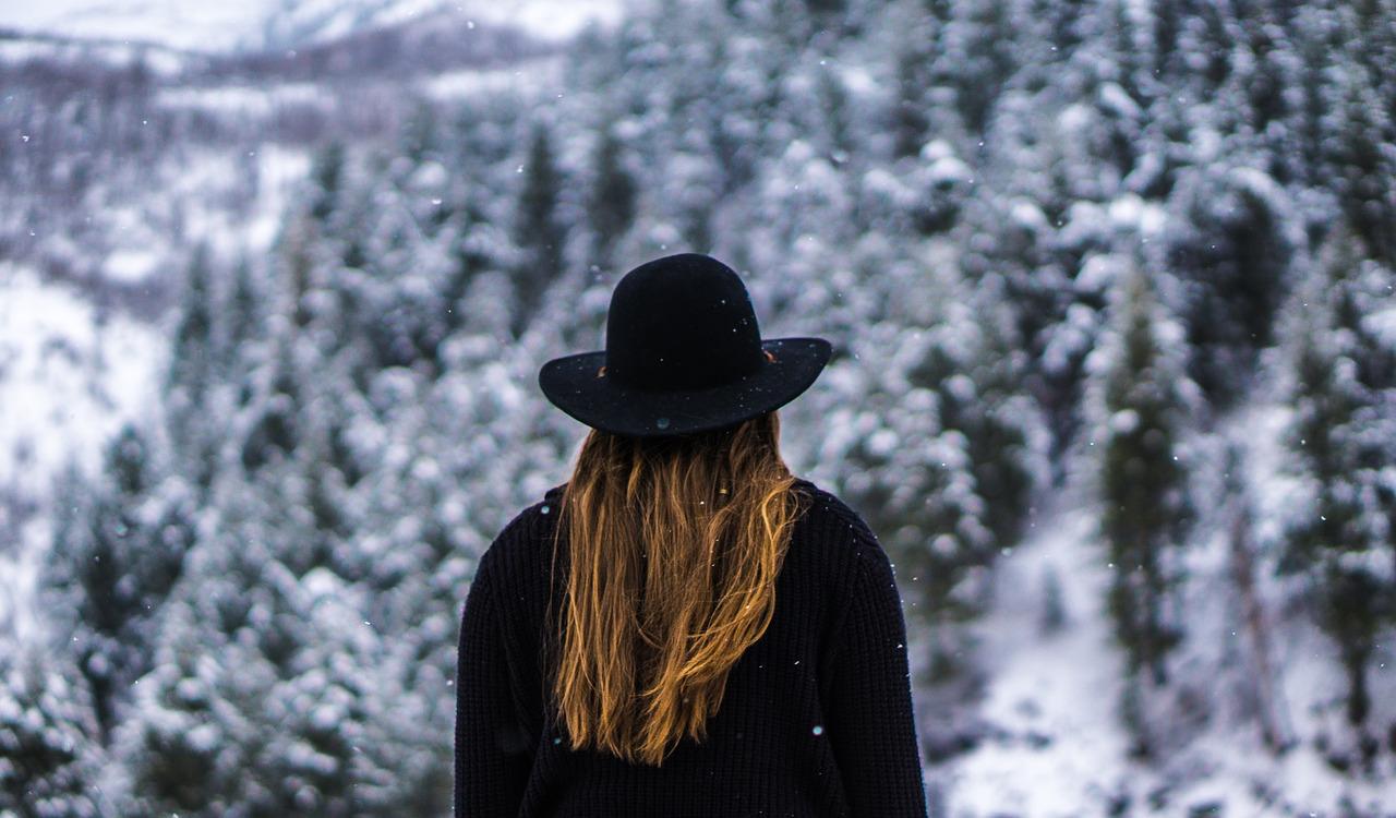 Fleecejacke im Winter